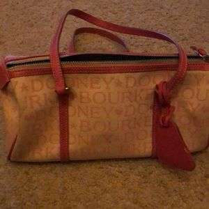 Dooney & Bourke white pink canvas & pink leather
